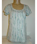 Urban Outfitters BDG light blue vertical tie dye tee shirt knit top cott... - $10.36