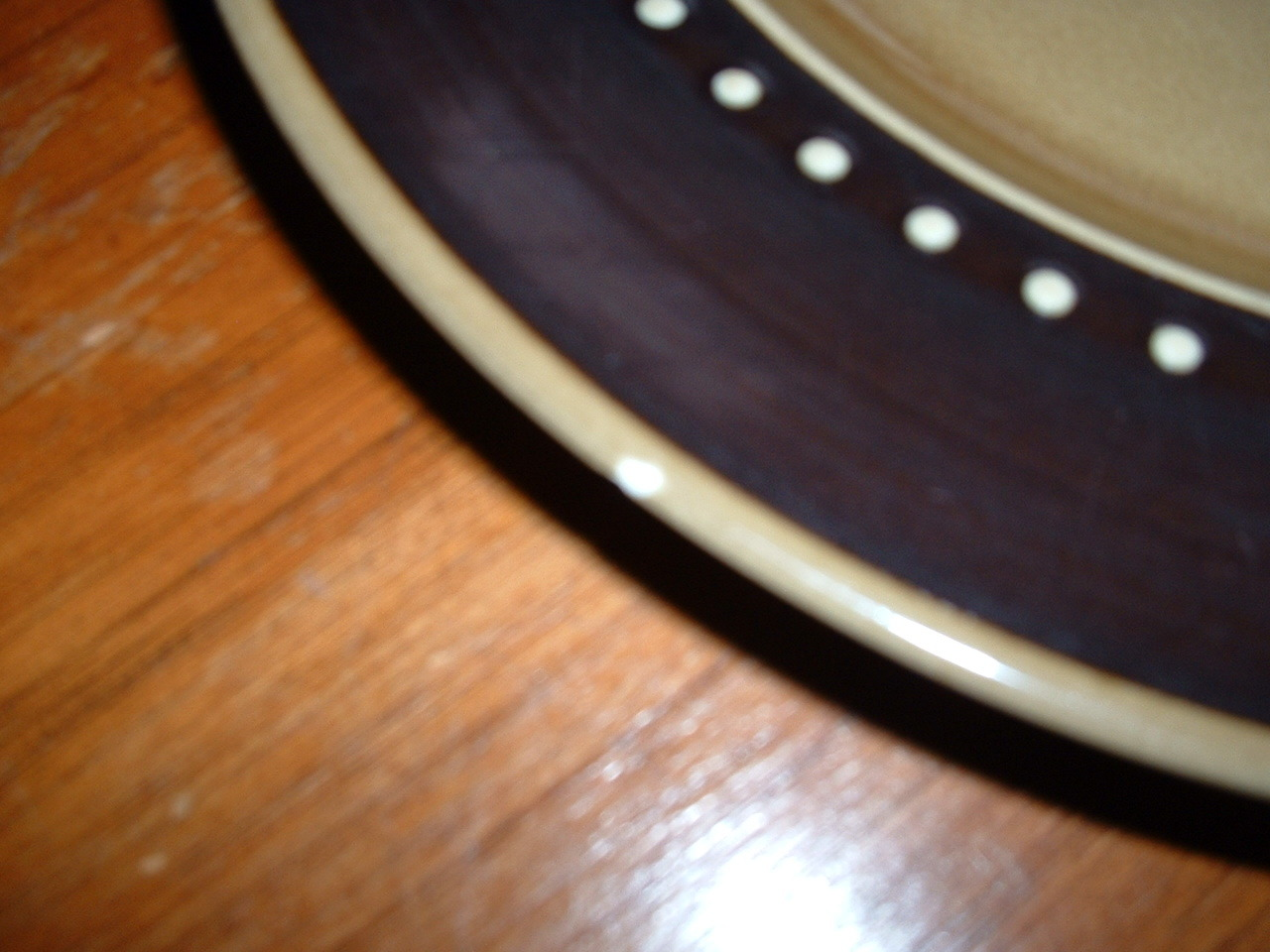 (2) large FRANCISCAN DISCOVERY 10 1/4 inch dinner plates; circa 1964