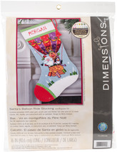 "Dimensions Stocking Needlepoint Kit 16"" Long-Santa's Balloon Ride Stitch... - $78.00"