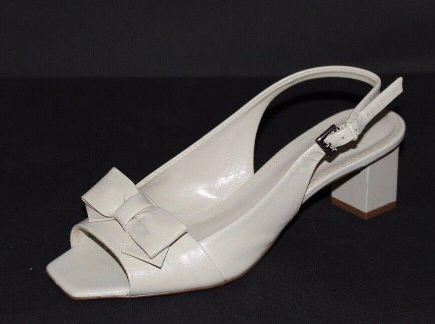 Franco Sarto Héritage Femmes Talons Chaussures en Cuir Beige Taille 6M