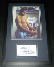 Herschel Walker SHIRTLESS Signed Framed 11x17 Photo Display UGA Georgia Cowboys image 1