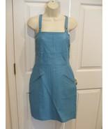 NWT $249 newport news/styleworks WINTER BLUE all leather sheath dress si... - $118.79