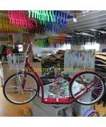 "20"" ADULT KICK SCOOTER - RED Amish Foot Bike Basket Brakes & Racing Whee... - $312.61"