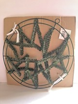 """Wire Work Wreath Form Double Tier Frame 15"""" Round Sturdy Metal Prongs Pi... - $16.73"""