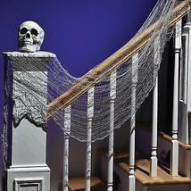 CREEPY CLOTH Halloween Costume Decoration Gauze Large Gray 30x72 House P... - $5.49