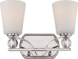 "Connie Polished nickel Satin Glass Wall Light 14""Wx9""H - $3.368,14 MXN"