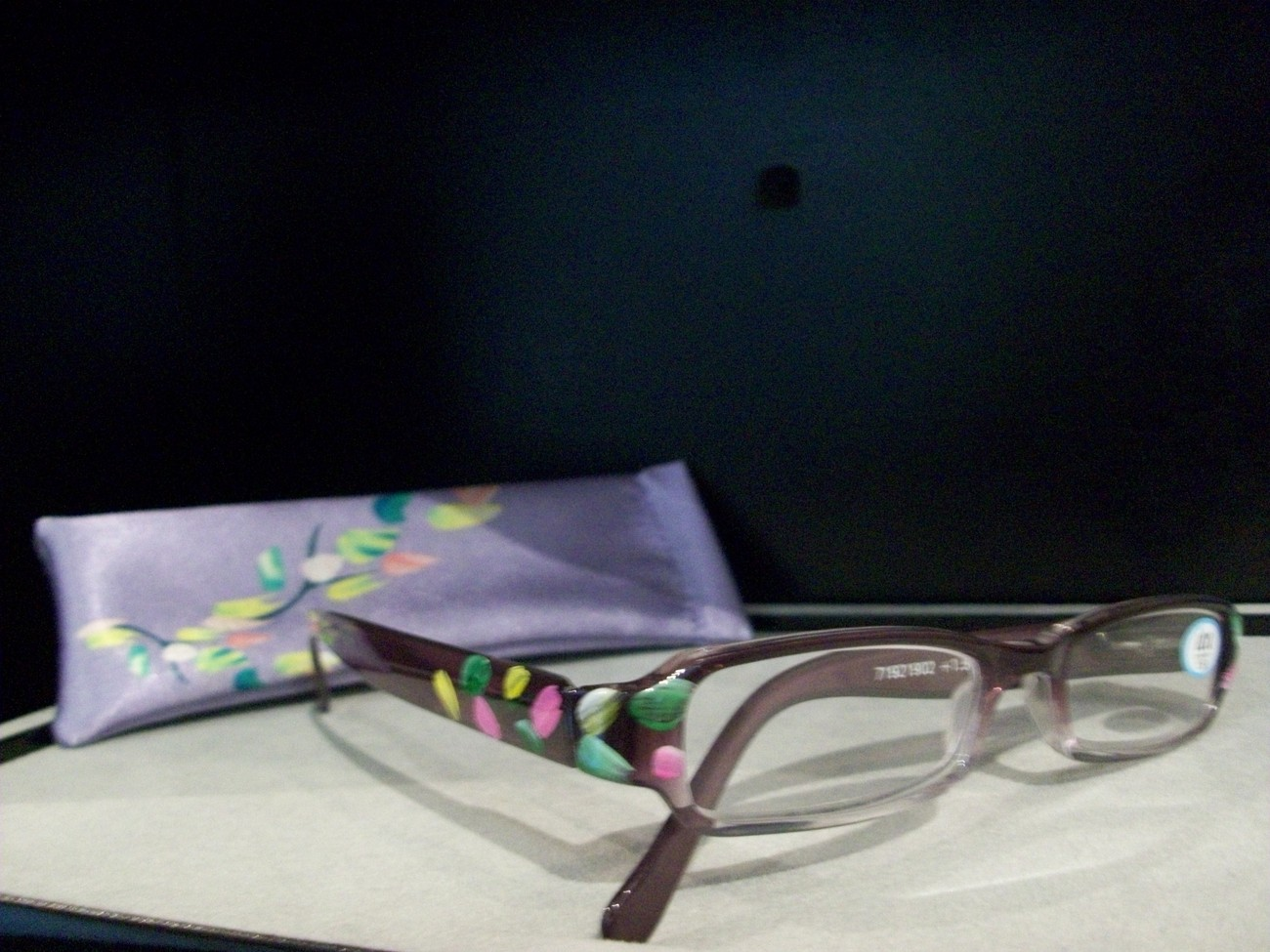 icu readers reading glasses painted floral 1 5