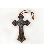 Southwestern Star Emblem Cross Christmas Ornament Decor - $8.95