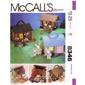 McCall's 8346 Miniature House Furniture and Families Pattern