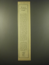 1965 Apollinaris Water Advertisement - We are a wonderful people - $14.99