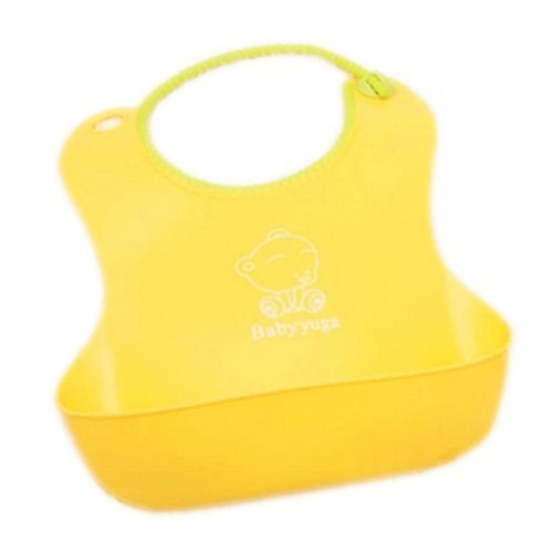 Toddle Burp Cloths Infant Baby Waterproof Feeding Dribble Bibs Yellow Set of 2