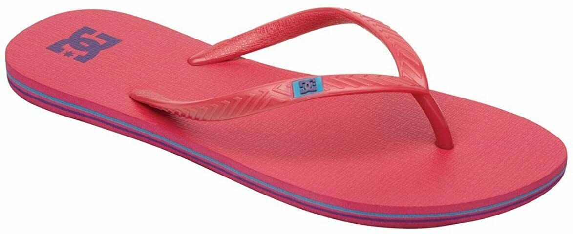 DC Women's Spray Flip Flop,Crazy Pink/Ocean,7 M US