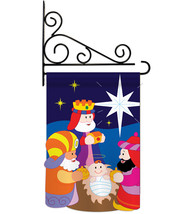 Three Kings - Applique Decorative Metal Fansy Wall Bracket Garden Flag S... - $29.97