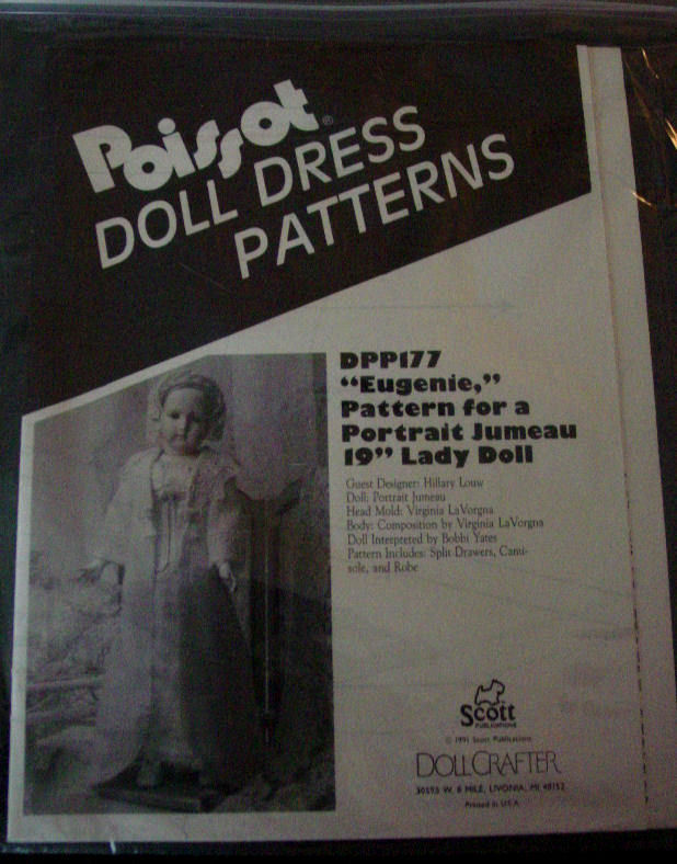"""Pattern Poissot #177 Drawer, Camisole, Robe, 19"""" Lady Doll clothes"""