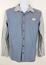 VANS Blue Long Sleeve Button Front Off the Wall Men's Shirt Size Small - $18.21
