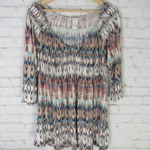 American Rag Shirt Top Womens 0X Multicolor Off The Shoulder D35 - $23.17