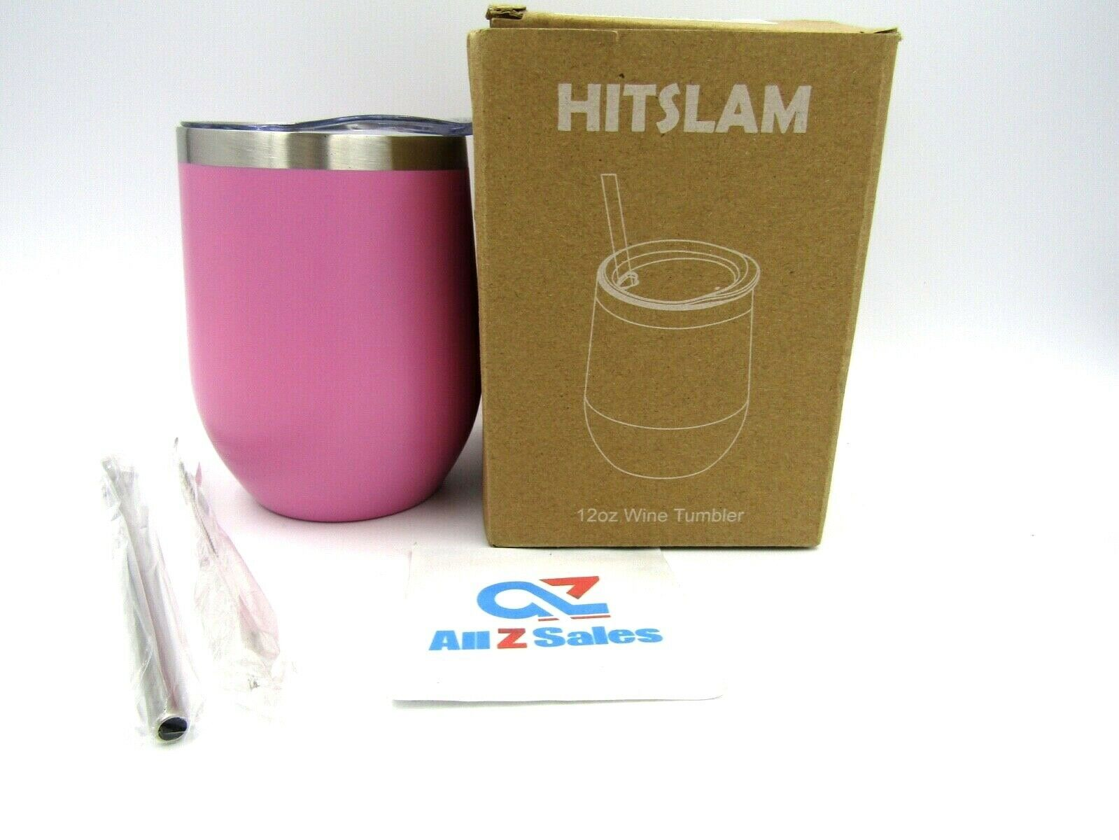 Primary image for HITSLAM 12oz Stainless Steel Wine Tumbler Insulated Double Wall Coffee Mug w/Lid