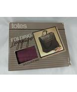 Vintage Totes Folding Luggage Shoulder Bag Nylon Maroon - $22.45