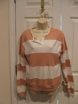 NWOT CHARLES DOUGLAS WIDE STRIPE PULLOVER TOP MEDIUM 8-10 - $16.82