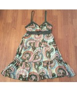 Dress Size Medium Paisley Crochet Tiered South Drive Fully Lined - $16.73