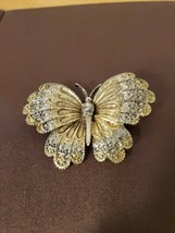VINTAGE ART SIGNED BUTTERFLY PIN BROOCH - $14.95