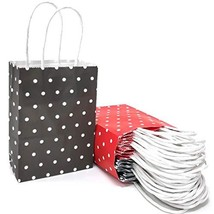 25 PCS Gift Bags Red and Black Mini Kraft Paper Bags with Handles for Pa... - $24.59