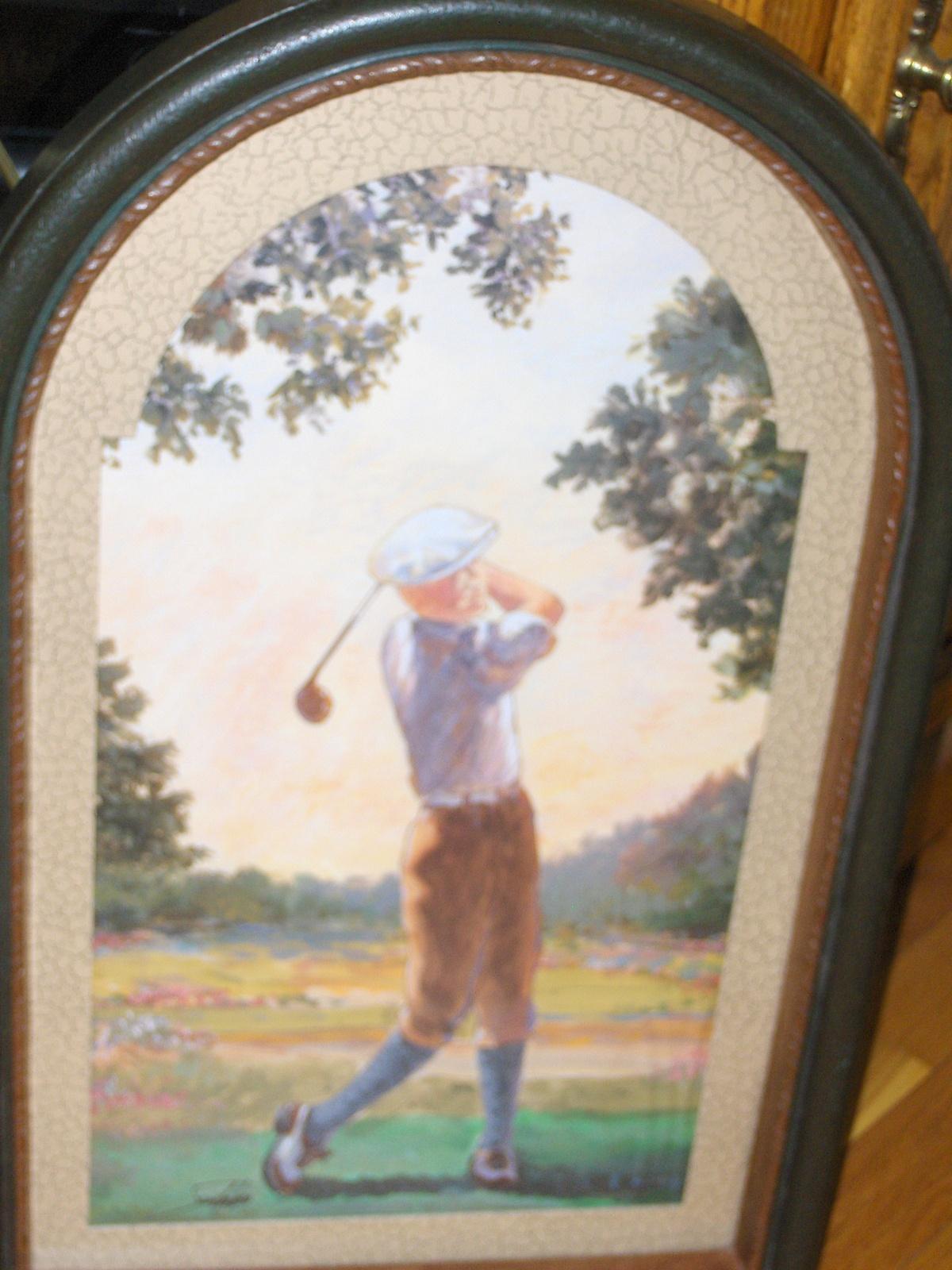 Vintage Home Interiors Set of Golf Pictures Sambataro Homco