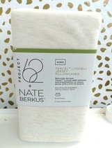 KING Size Tencel Jersey Blend Pillowcase Set Beige Project 62+ Nate Berkus NEW image 2