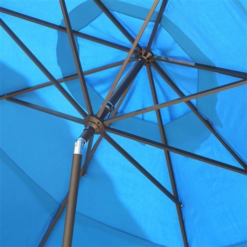 11-Ft Tilting Patio Umbrella in Pacific Blue image 2
