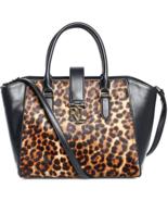 Ralph Lauren Carrington Bethany Leopard Leather Satchel MSRP: $348.00 - $197.99
