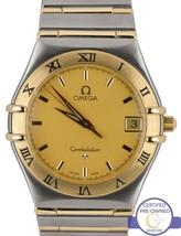Omega Constellation 1212.10.00 33.5mm Two-Tone 'Full Bar' Quartz Date Watch - $1,593.51