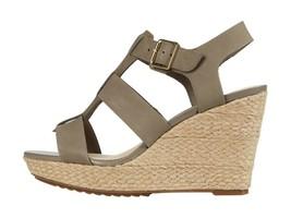 Clarks Maritsa 95 Glad Sage Women's Leather Wedge Platform Sandals 49295 - $108.00