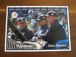 YOGI BERRA JOE TORRE DON ZIMMER NY YANKEE LEGENDS HOF SIGNED AUTO PHOTO ... - $296.99