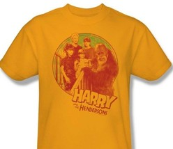 Harry and Hendersons T-shirt retro 80s TV show 100% cotton  gold tee NBC307 image 1