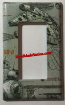 Star Wars Millennium Falcon BB8 BB-8 Switch Outlet wall Cover Plate Home Decor image 2
