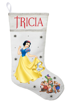Snow White Christmas Stocking - Personalized and Hand Made Snow White St... - $29.99