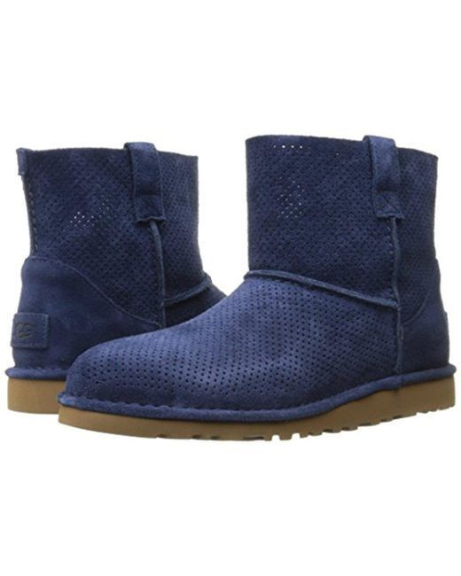 66053c12a689e WOMENS UGG AUSTRALIA Boots Classic Unlined Mini Perforated Leather Booties 8  M -  120.18