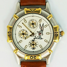 Bugs Bunny Day Date 24 Hour Fossil New Unworn Warner Bros. Watch Collect... - $137.46