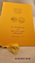 United States Virgin Islands Semicentennial  Ceremony Program First Day ... - $5.89