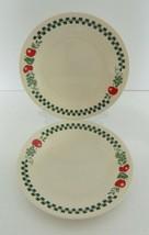 Corelle by Corning Farm Fresh Dessert Bread & Butter Plates Fruits Green Checks  - $17.70