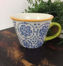 Pier 1 Imports Hand Painted Stoneware Coffee Cup - $9.89