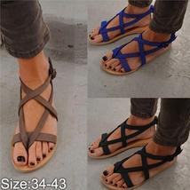 2018 Summer New Women Sandals Casual Brown Flat Sandals Shoes