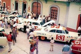 1953 Lincoln Capri V8 Carrera at Pan Americana Road Race - Photo Poster - $9.99+