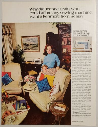 Primary image for 1970 Print Ad Sears Kenmore Sewing Machines Happy Mom & Son