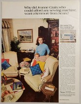 1970 Print Ad Sears Kenmore Sewing Machines Happy Mom & Son - $16.81