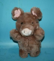 "RUSS Stuffed Animal ROSEBUD PIG 9"" Brown Plush Soft Toy Pink Yarn Tail 4... - $67.70"