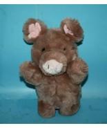 "RUSS Stuffed Animal ROSEBUD PIG 9"" Brown Plush Soft Toy Pink Yarn Tail 4... - $67.70"