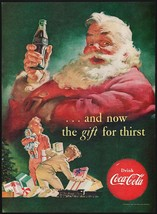 Vintage magazine ad COCA COLA from 1952 with Santa Claus Haddon Sundblom... - $14.99