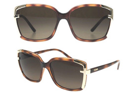 New Fendi Sunglasses 5225 Brown Gold 238 Authentic 58-16-135 - $168.26