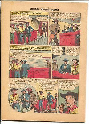 Cowboy Western #21 1949-Charlton-Jessie James-Wild Bill Hickok-Kit Carson-P